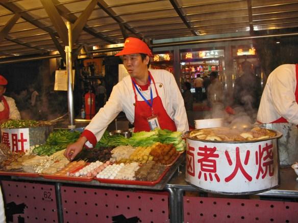 Beinjing Night Market stall holder