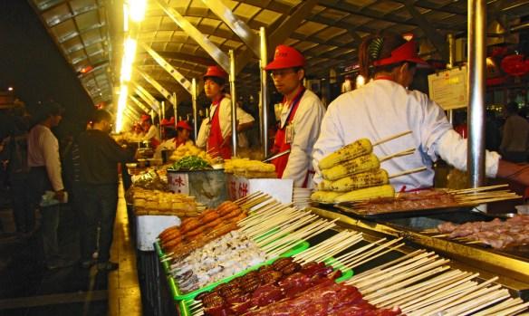 Beijing Night Market Night market stall