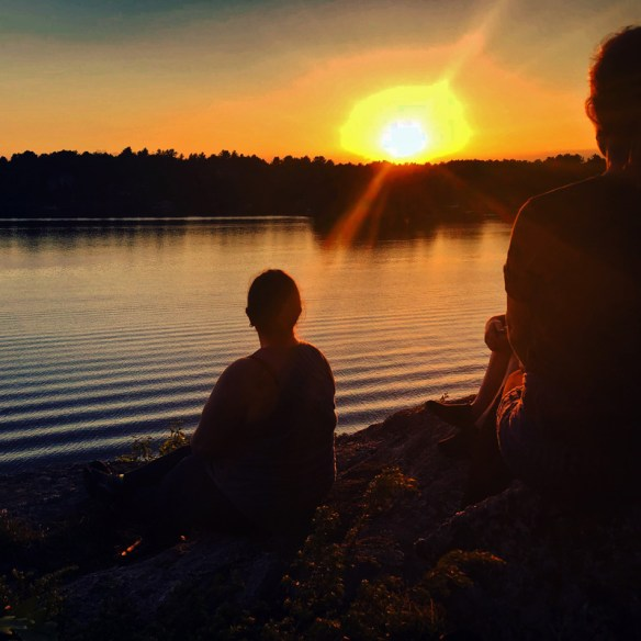 Finding Our Muskoka Soul - Ripples across the water at sunset
