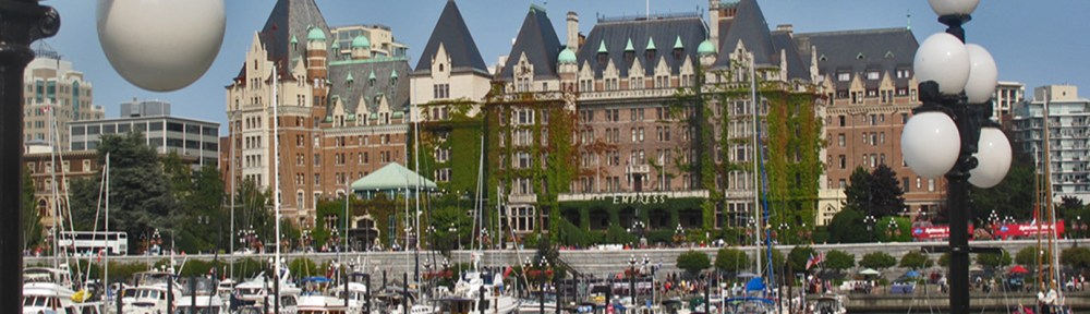 waterfront at Victoria with Empress Hotel Bikes and Brews in Victoria, BC