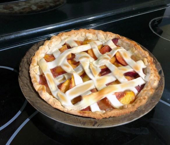 lattice nectarine pie