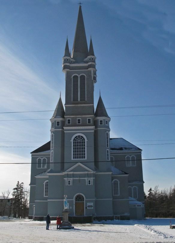 Ste. Marie Church in Church Point Nova Scotia Acadian Rappie Pie
