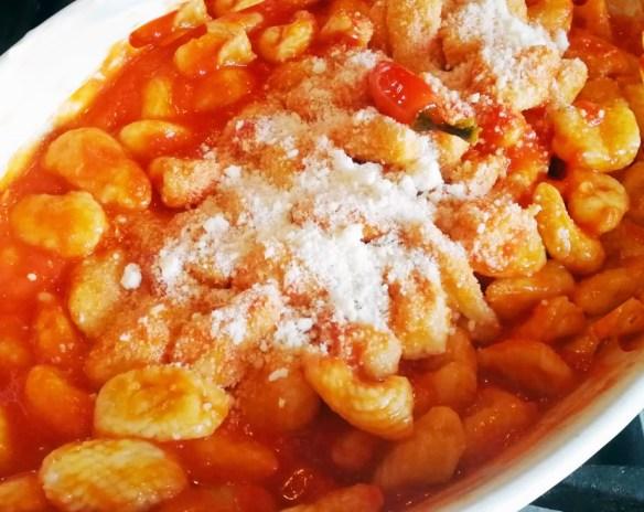 gnocchi in tomato sauce - Antonio's Gnocchi Calabrian Style