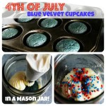 Mason Jar Blue Velvet Cupcakes – Americana for the 4th of July!