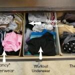 #Organizedin2013: Simplified Dresser Storage
