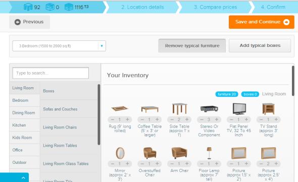 unpakt inventory