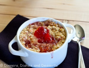 PB&J oatmeal