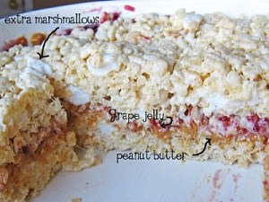 PB&J rice krispies