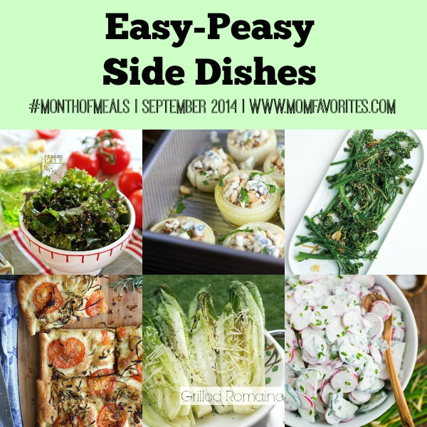 Easy Peasy Side Dishes: Month of Meals - www.MomFavorites.com