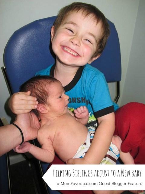 Helping Siblings Adjust to a New Baby, www.MomFavorites.com