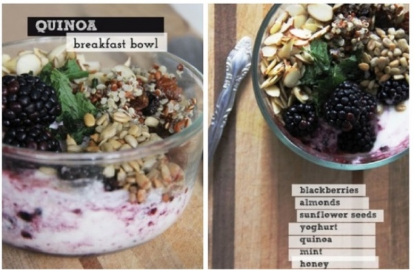 Breakfast Quinoa, Month of Meals Menu collection
