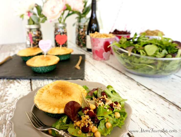 A simple party plan to entertain those you love.  Pretty tablescape, menu ideas, and recipes! #Valentines