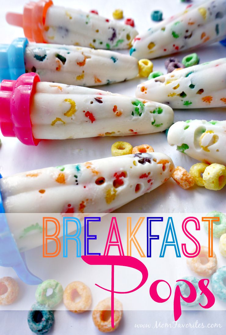 Start your mornings with this Breakfast Pops recipe, a refreshing treat to start your summer day!