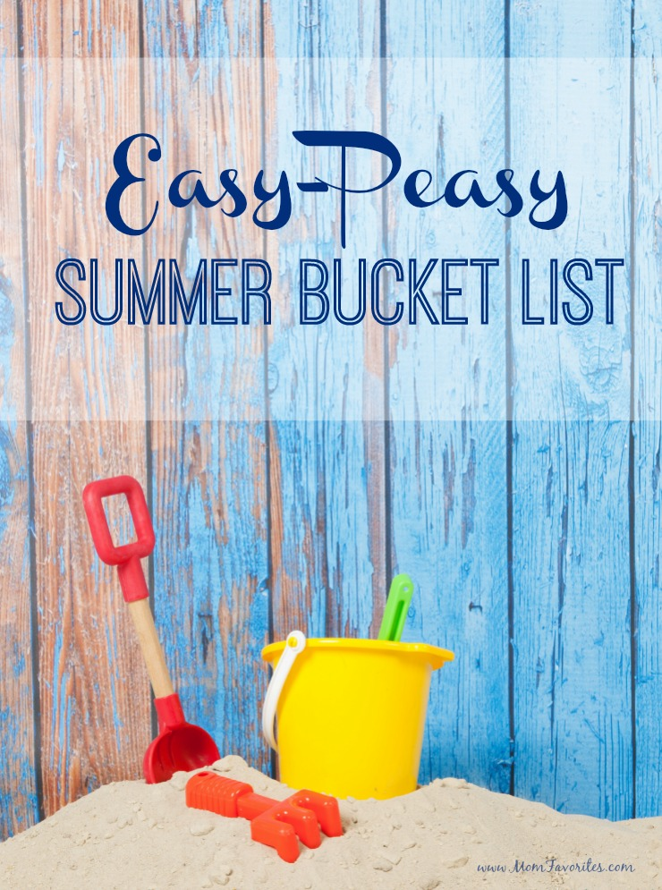 Not over yet! Don't miss out on the best of summer fun with this Easy Peasy Summer Bucket List - Totally doable in one day.  The Best of Summer Fun in one great Summer Bucket List!