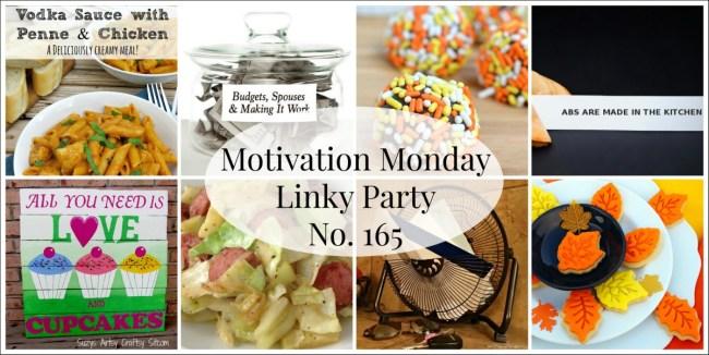 Motivation Monday Linky Party 165