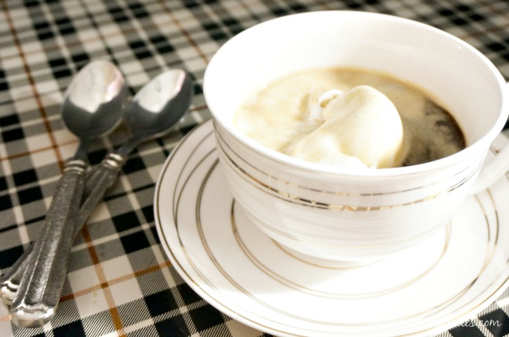 Finish off your dinner party with a two-ingredient dessert. This dairy-free affogato recipe will end your night with rave reviews!