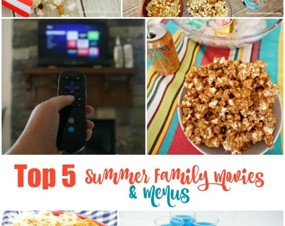 Create lasting memories this summer with these summer family movies paired with easy and themed dinner and snacks!