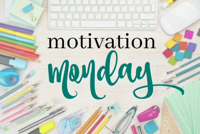 Motivation Monday Link Party image created by Forks & Folly and Mom Favorites