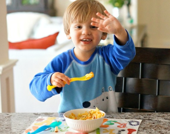 """Soup for Toddlers? We're doing it! This not-so-brothy toddler soup recipe is great for new spoon users! Introduce soup to your child after reading """"SPOON,"""" a delightful book by Amy Kraus Rosenthal."""