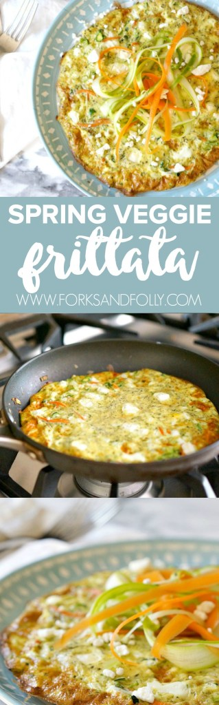 Excited about spring produce? Me too! Add your favorite produce to this Spring Veggie Frittata recipe and serve it up for breakfast, lunch or dinner. It's also perfect for an Easter or Mother's Day brunch!