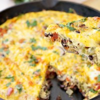 Spicy Southwest Veggie Frittata Recipe