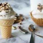 Fudge Stripes Cookie Homemade Ice Cream: #52WeeksofSweets, Week 18