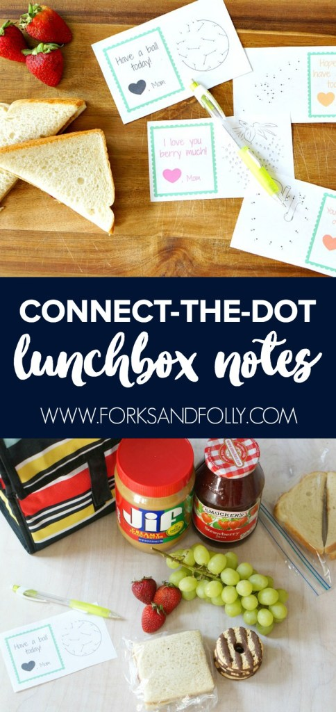 Ready to get this back-to-school party started? Make the firsts days of school special and power their day with their favorite lunch and these fun connect-the-dot lunch box notes from mom!