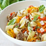Summer Orecchiette with Sausage and Peppers