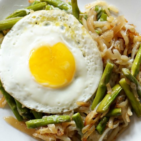 Asparagus & Egg Hash