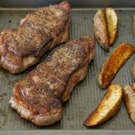 Sheet Pan Steak Frites with Garlic Aioli