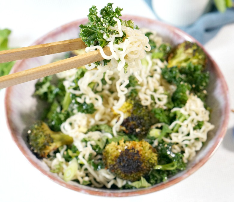 Broccoli and Kale Ramen Salad makes veggies worth eating. Broccoli and kale can be boring.  But charred broccoli, marinated kale, and perfectly dressed ramen noodles?  Totally crave-worthy.