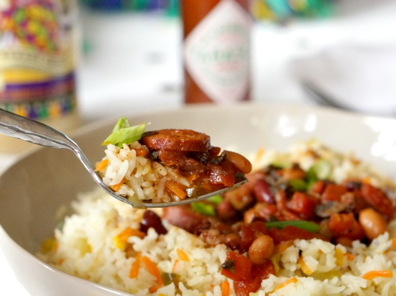 Our Kickin' Cajun Red Beans and Rice recipe is the perfect way to celebrate Mardi Gras at home!  Get Mardi Gras food, decor and party inspiration with supplies from World Market!