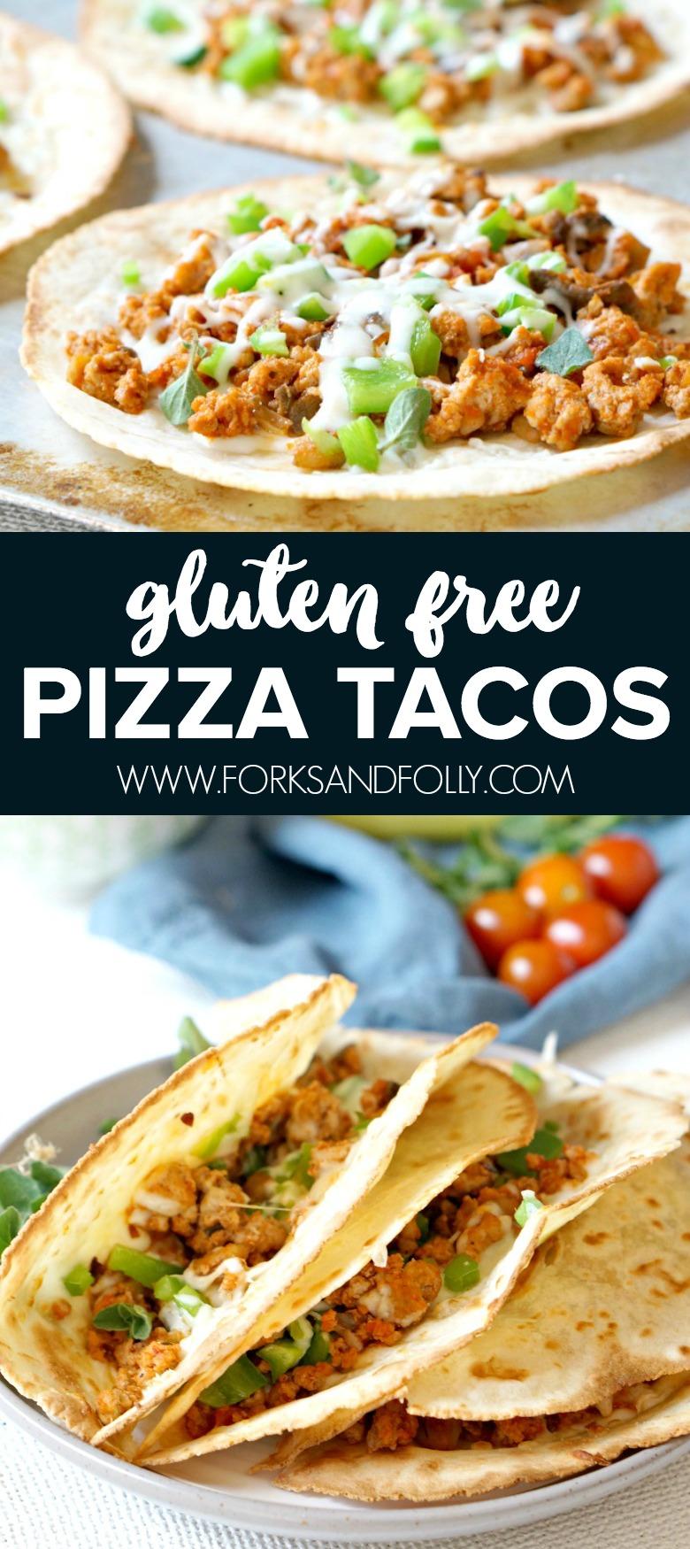 Gluten Free Pizza Tacos with Hidden Veggies