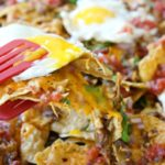 Sausage, Bacon, & Eggs Breakfast Nachos