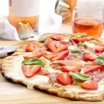 Prosciutto and Strawberry Grilled Flatbread