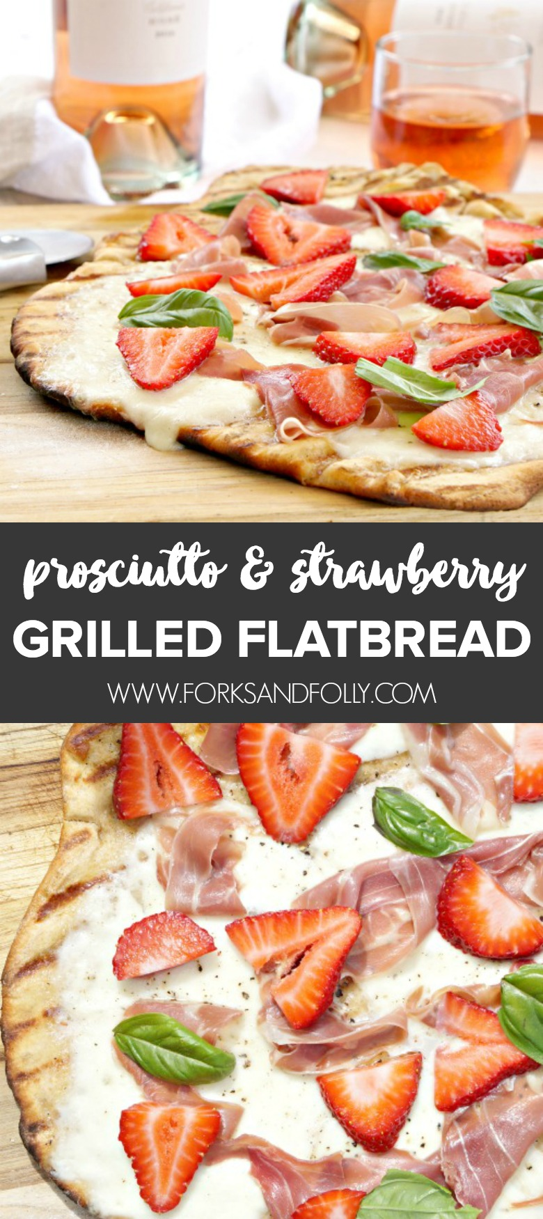 Grab your favorite Rosé to enjoy with ourProsciutto and Strawberry Grilled Flatbread. Served as an appetizer or light supper, our Prosciutto and Strawberry Grilled Flatbread is the perfect complement to your summer soirée