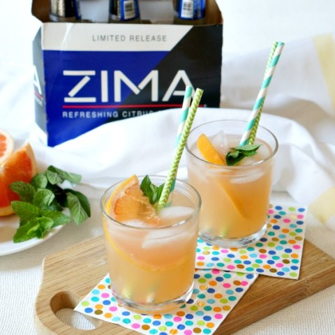 Time to bring the 90's to my favorite cocktail!  Score a 6-pack of Limited Release Zima® to make this refreshing and delish Sparkling Zima® Paloma Cocktail.