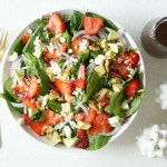 Stunning Strawberry & Avocado Spinach Salad