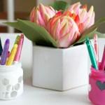 DIY Geometric Mason Jars for Back to School