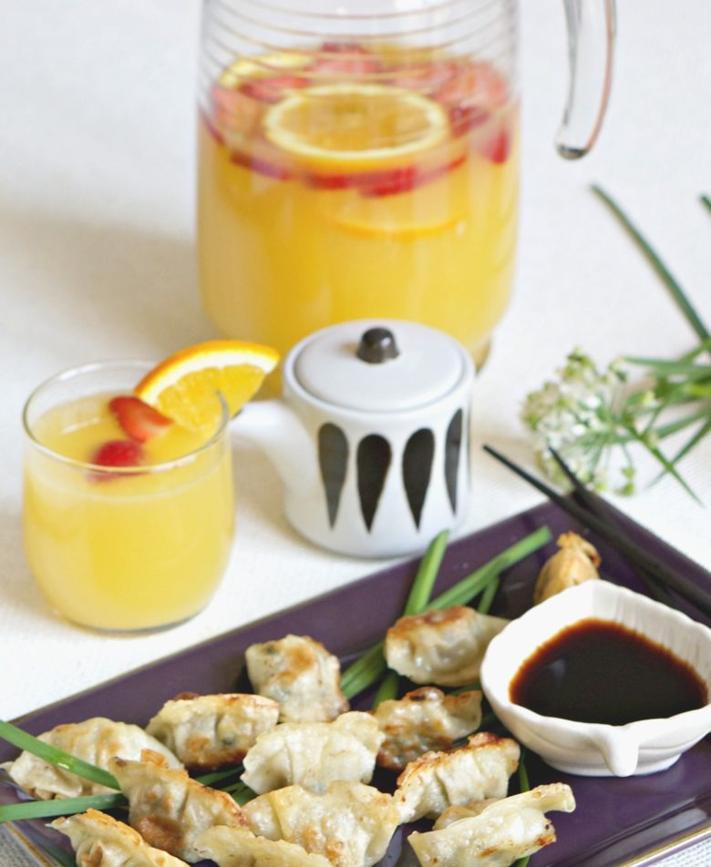 Explore new flavors with our low-key Korean brunch menu ideas.  Featuring convenient products from Bibigo and a delicious orange and berry sangria spiked with sake!