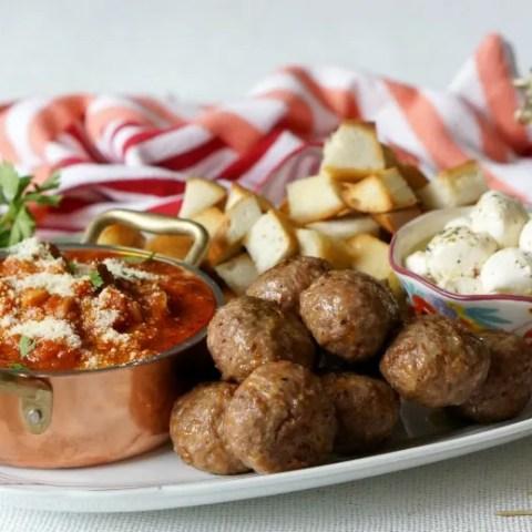 Abruzzese Meatball Appetizer Platter