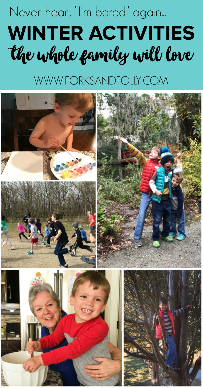 "Put ""I'm bored,"" to rest with these 18 Cool Weather Family-Friendly Activities.  Can't wait to cross them all off our winter bucket list!"