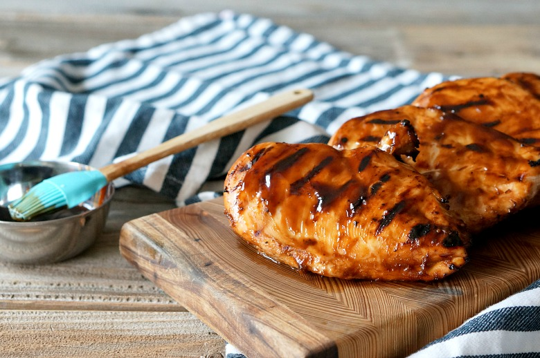 Sweet, just slightly spicy, and perfectly tangy - this hoisin grilled chicken stays moist thanks to the marinade and gets an extra flavor boost with a last minute hoisin glaze.