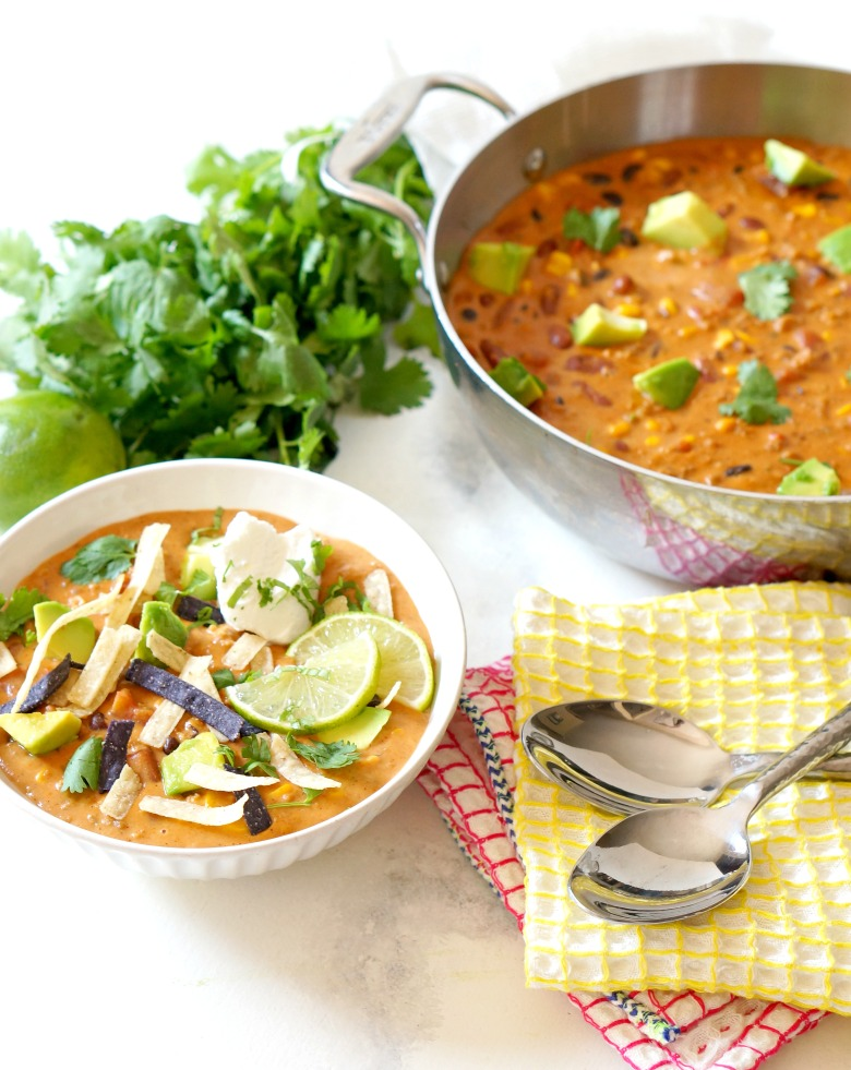 How fast can you open a few cans? That's how quick our Easy Vegetarian Taco Soup comes together. With double the cheese and Italian Sausage Crumbles, this soup is spoon-lickin' great.