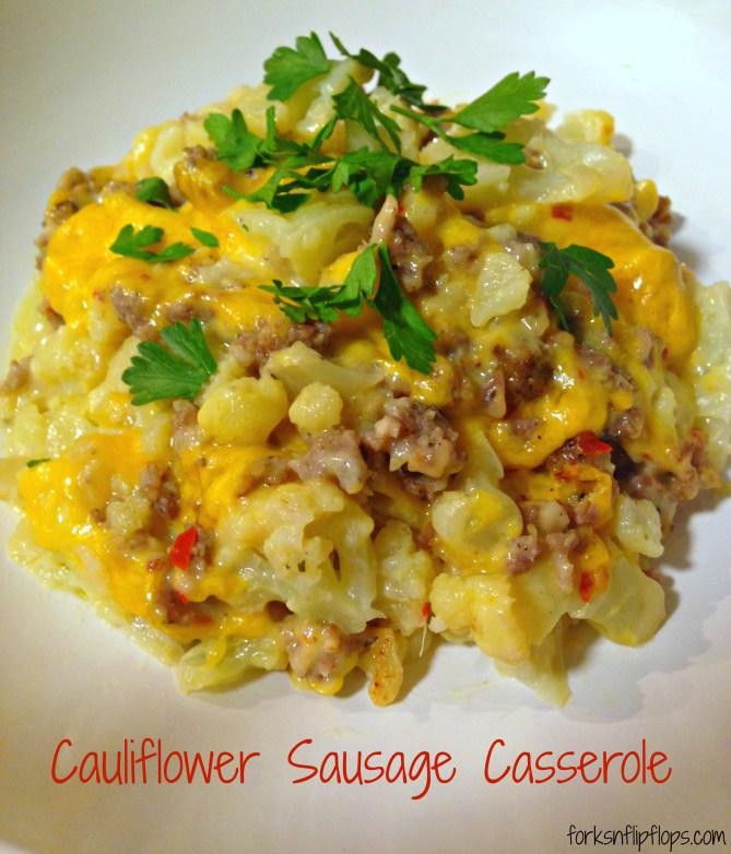 cauliflower-sausage-casserole