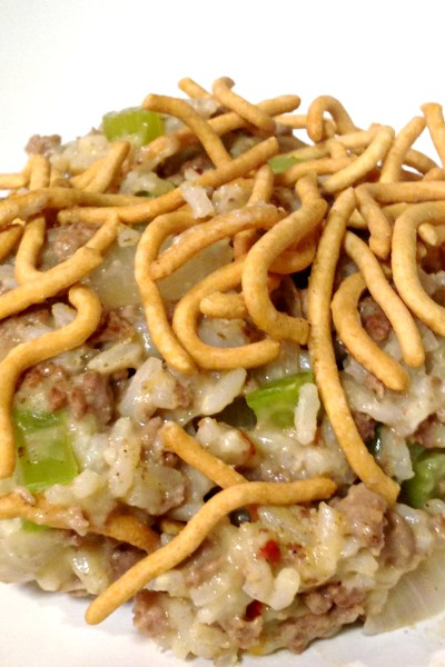 Chow Mein Hamburger Hot Dish
