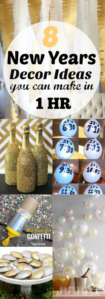 8 New Years Decor Ideas You Can Make in 1 Hr