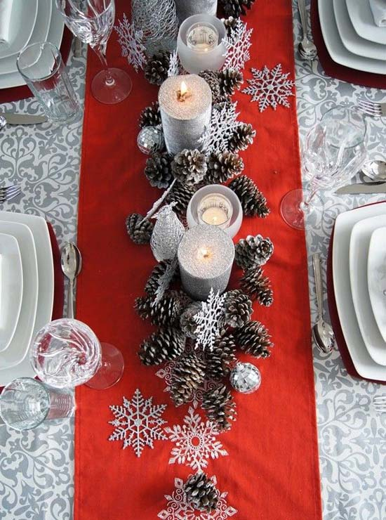 Christmas Pinecone Table
