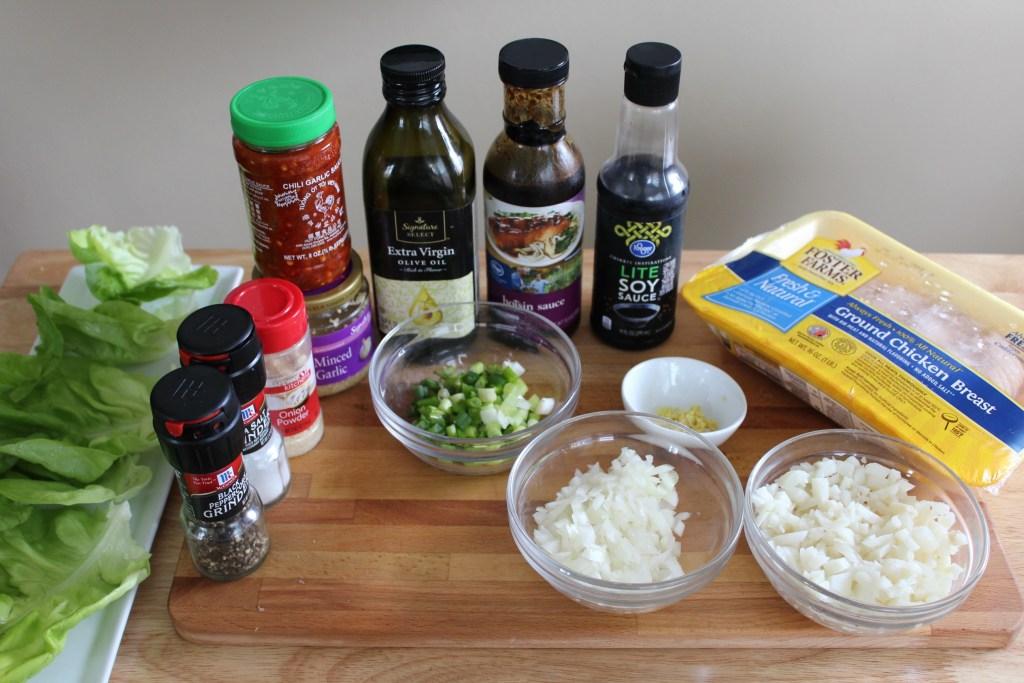 Spicy Chicken Lettuce Wrap Ingredients