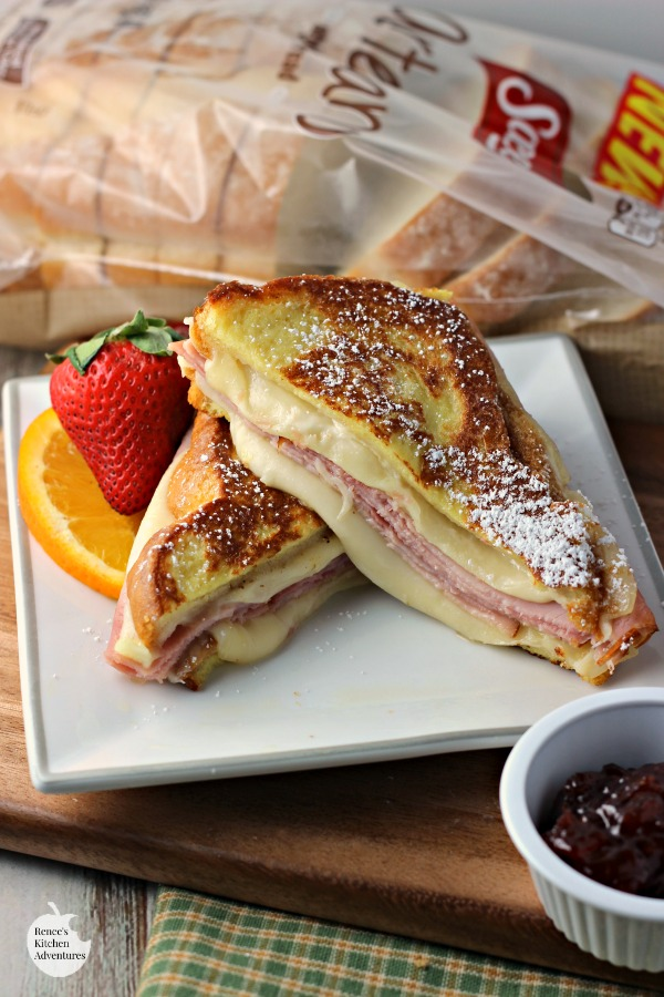 Monte Cristo Style Grilled Cheese Sandwich